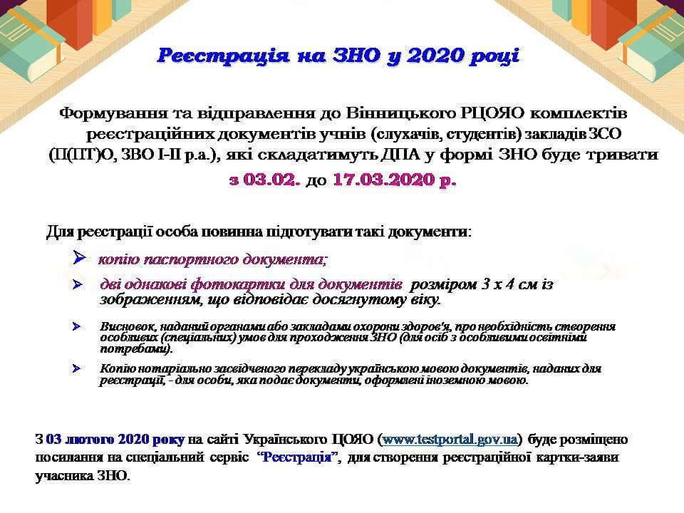підготовка до ЗНО-2020